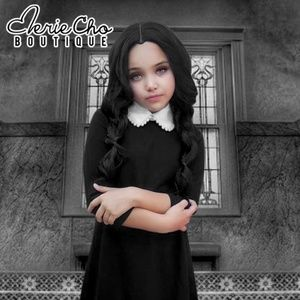 Other - NW black dress peter pan necklace Wednesday Addams